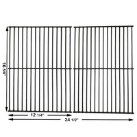 Hisencn 16.6 inch 52932 set of 2 Porcelain wire Cooking Grid Replacement for Charbroil, Centro, Kenmore, Front Avenue, Kirkland