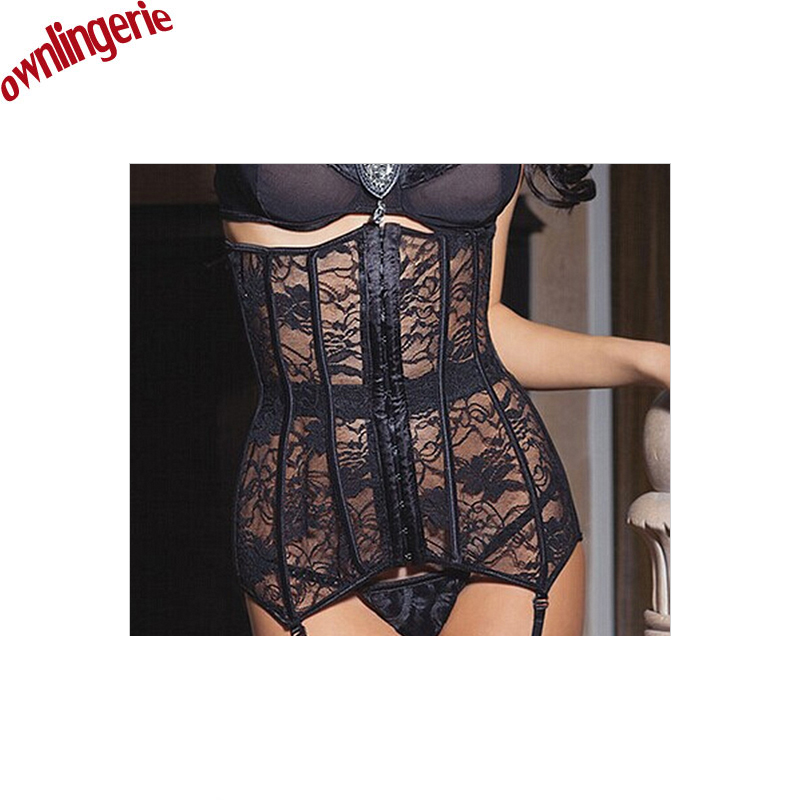 2017 New arrive Cheap   Corset   Underbust Lingerie Waist Tariner Lace Up Latex Waist   Corsets   Cincher Women