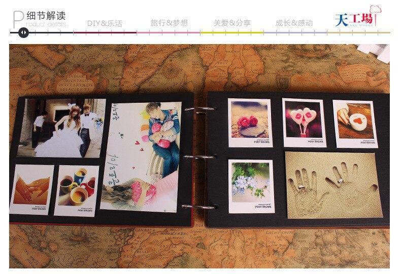 Favori 2015 new Scrapbooking 10 inch DIY manual paste type photo album  SC11