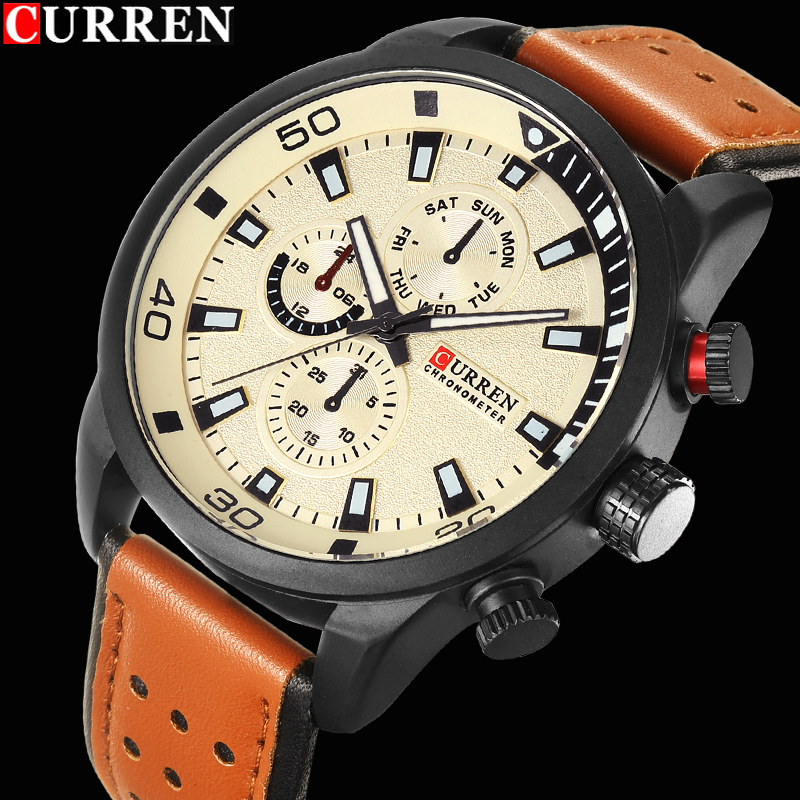 2017 CURREN Stylish Watch Men Luxury Brand Men's Quartz-watch Waterproof Clock Men Wrist Watches Relogio Masculino Reloj Hombre