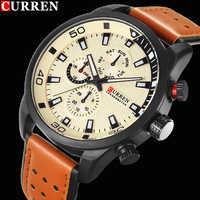 Reloj CURREN 2017 de lujo para hombre, reloj de cuarzo resistente al agua, reloj de pulsera para hombre