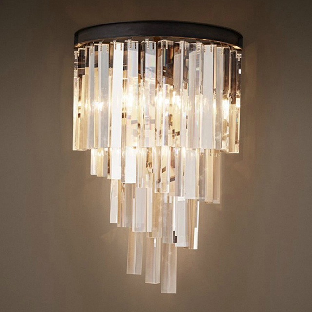 American vintage loft industry glass retro crystal wall lamp light american vintage loft industry glass retro crystal wall lamp light sconce rh with glass crystal pendant aloadofball Gallery
