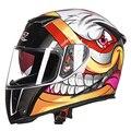 N2017 gxt motocicleta casco doble lente genuino diseño de moda caliente de la cara llena cascos de carreras de invierno casco casque capacete moto
