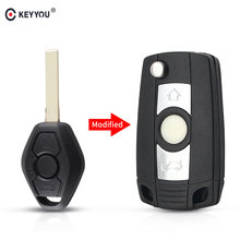 KEYYOU 3 przyciski zmodyfikowany składany obudowa pilota bez kluczyka Case dla BMW E81 E46 E39 E63 E38 E83 E53 E36 E85 1 2 3 seria z HU92 ostrze