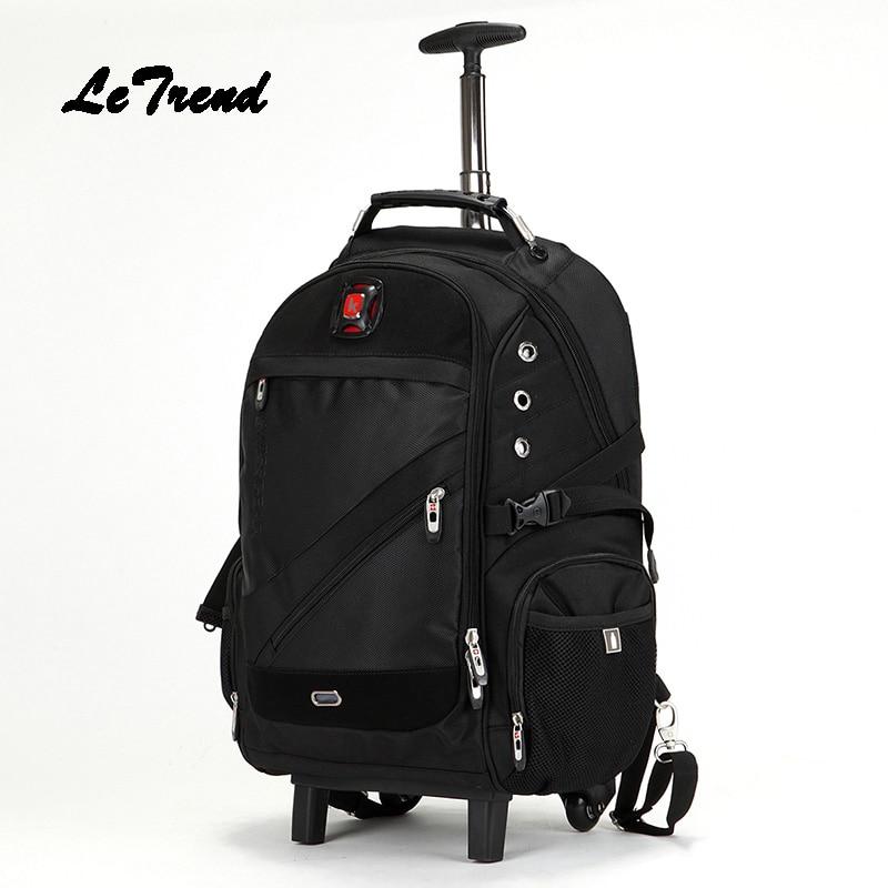 Camouflage Travel Bag large capacity Rolling Luggage Suitcases Wheel Men Cabin Shoulder Bags Multifunction Backpack School
