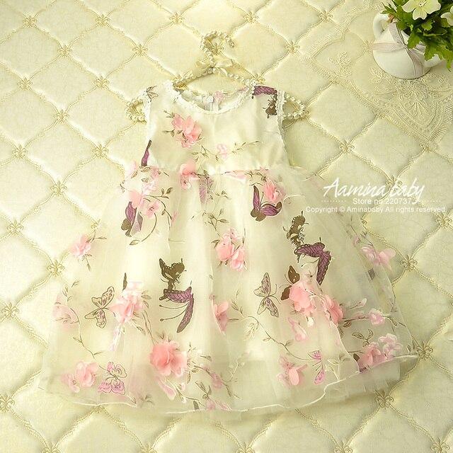 Flower Petal Girls Dresses Summer 2017,children Tutu Princess Dresses For Girls,baby Print Girl Party Dress Kids Girls Clothes
