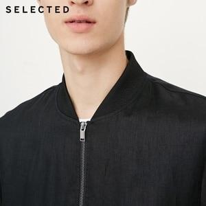 Image 5 - SELECTED Mens Linen Splice Coat Autumn & Winter Baseball Collar Jacket Clothes C