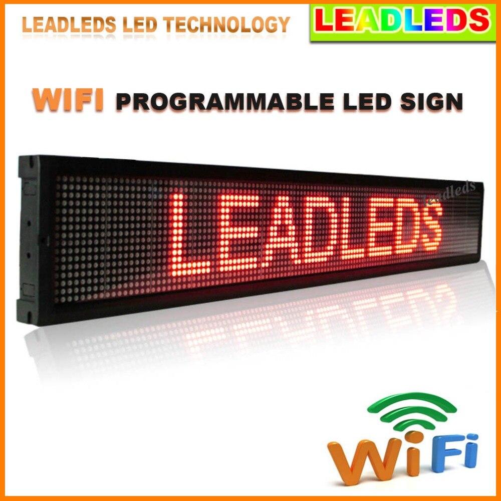 P7.62 affichage de LED d'intérieur rouge/jaune/vert/bleu Wifi et panneau d'affichage publicitaire de signe de message défilant LED Programmable de disque d'u