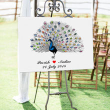Hot Beautiful Peacock Tail Canvas Print DIY Fingerprint Signature Guestbook for Wedding Party Decoration Free Custom Name Date wedding balloon canvas print diy fingerprint signature guestbook for wedding bride groom custom name date party decor