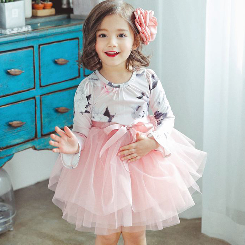 Long Sleeve Baby Wedding Dress for Little Girl Party Birthday Clothes Girls Children's Princess Costume for Kids Tutu Ball Gowns baby girl 1st birthday outfits short sleeve infant clothing sets lace romper dress headband shoe toddler tutu set baby s clothes