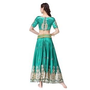 Image 5 - อินเดียชุดบอลลีวูดแบบดั้งเดิมชุดเครื่องแต่งกาย 3pcs ชุด + เข็มขัด + กระโปรงผู้หญิง Belly dance คำชุดเต็มเครื่องแต่งกายเต้นรำ