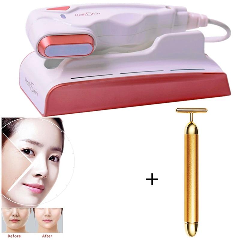 Best Skin Care Mini Hifu Spa Beauty machin V curing High Intensity Focused Facial Lifting Machine Face Lift RF LED Anti Wrinkle