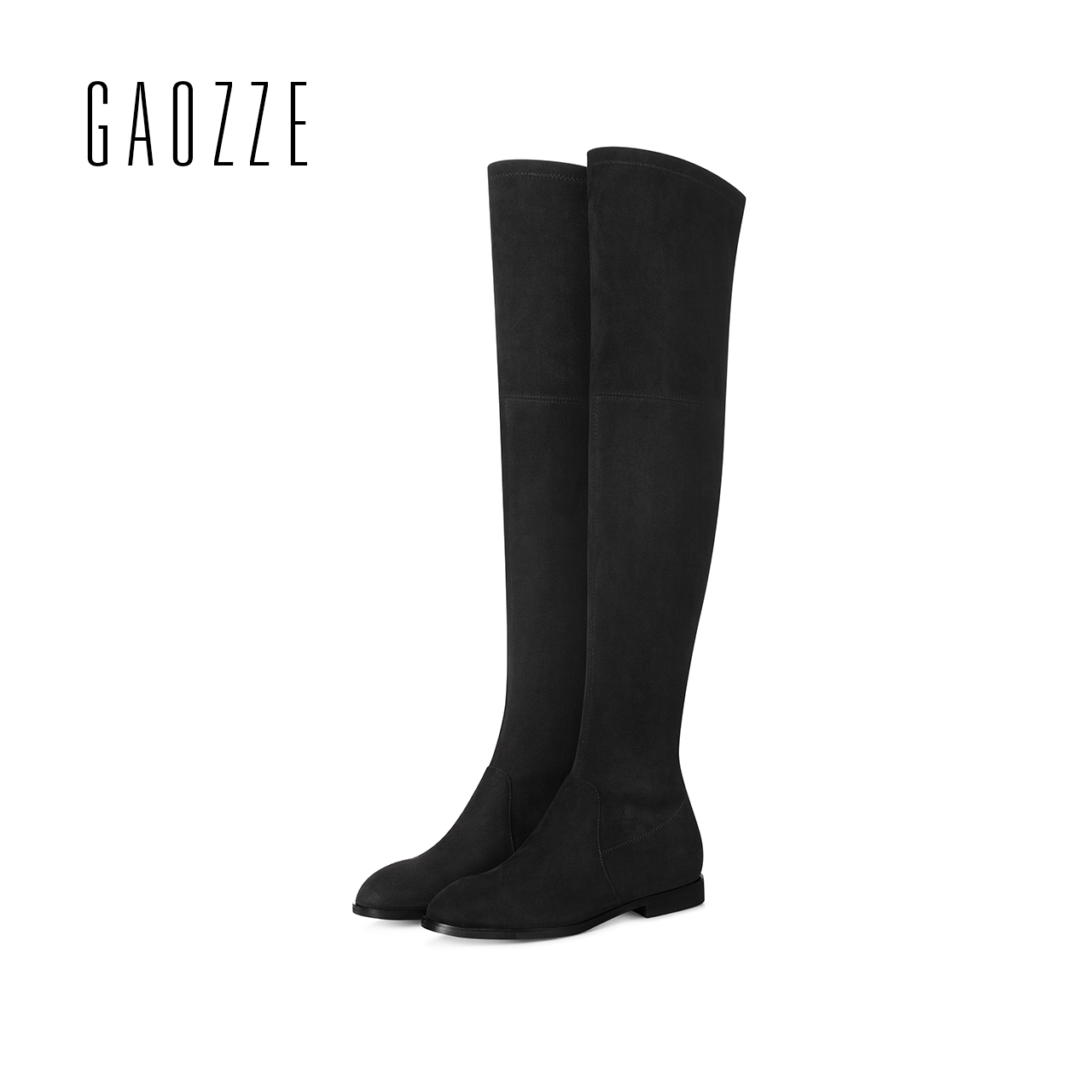 GAOZZE Sheep Suede Slim fit Boots Sexy over the knee high women flat snow boots women's fashion winter flat boots shoes luxury purple floral highland sheep suede boots cat out flower spring winter over the knee boots women brand shoes nancyjayjii