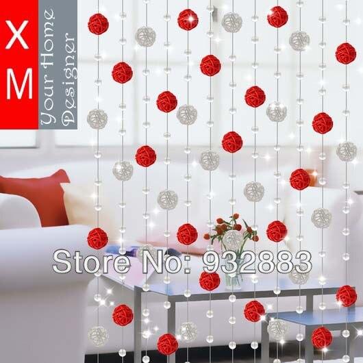 livraison gratuite crystal perles rideau rideaux pour salon rustique ...
