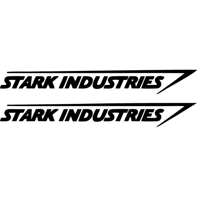 Hot sale stark industries sticker vinyl decal marvel iron man avengers car window car stying jdm