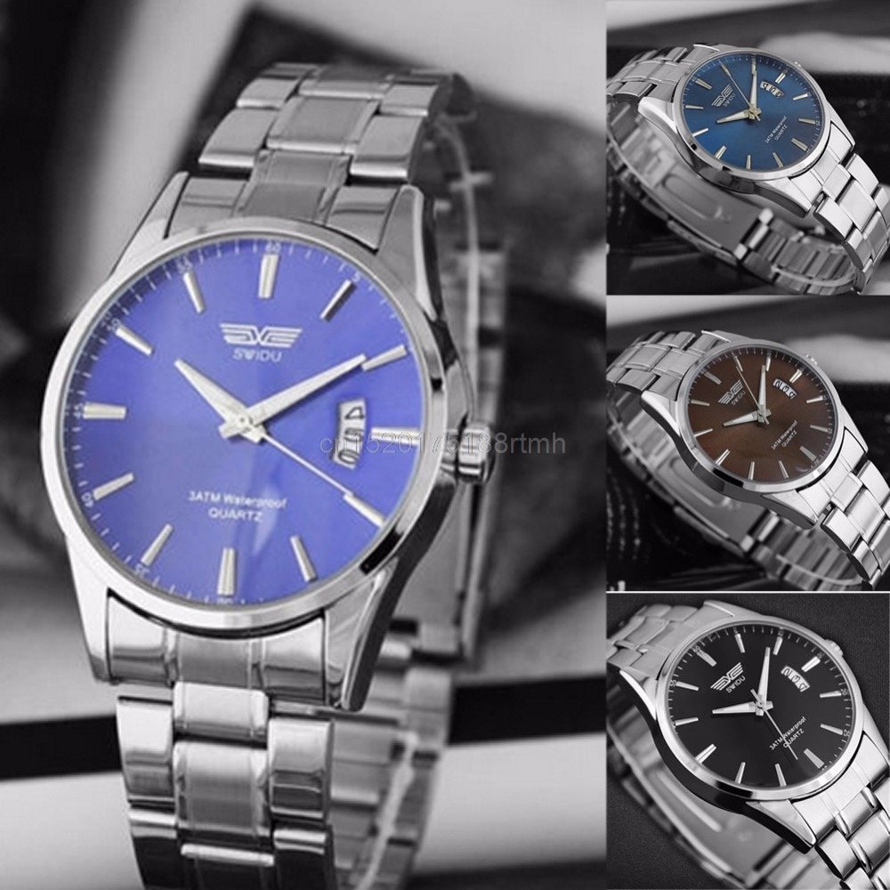 New Mens watch Stainless Steel Band Date Analog Quartz Sports Wrist WatchNew Mens watch Stainless Steel Band Date Analog Quartz Sports Wrist Watch
