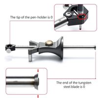 Carpenter Straight Line Arc Curve Scriber Parallel Wheel Marking Cutting Gauge Woodworking Dual purpose Drawing Line Square Mark