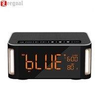 Wireless Bluetooth Loa Di Động Loa Đồng Hồ Báo Thức Time LED Hiển Thị Hands-Free Gọi/FM Radio/Aux-in/TF Card/U Đĩa