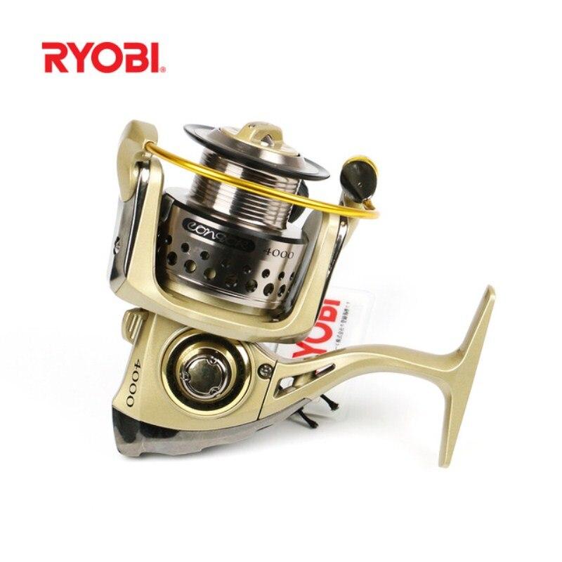 RYOBI TRESOR(CONDOR) 1000-4000 Size 6BB Spinning Fishing Reel 2.5-5kg Drag Power 5.0:1/5.1:1 Carretes De Pescar Steering-Wheel