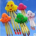 O envio gratuito de Alta qualidade 5 m kite flying jellyfish octopus suave tecido de nylon pipa pipa pipa chinesa venda barato fábrica crianças brinquedo
