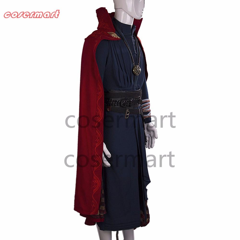 2016 Marvel Movie Doctor Strange Costume Cosplay Steve Full Set Costume Robe Halloween Costume (4)_