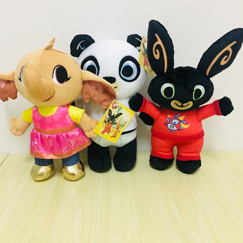 3pcs/set Bing Bunny Rabbit Plush Toy Stuffed Animals Kid Cute Soft Christmas Gift 25cm plush rabbit toy cute bunny stuffed soft doll big eyes small simulated animals plush toy gift for children kids toys