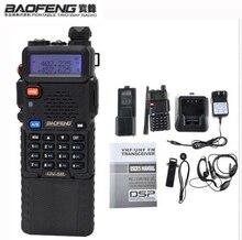 2021 חזיר רדיו hf משדר BAOFENG UV 5R 3800mAh 136 174 / 400 520 Mhz Dual Band שני בדרך ווקי טוקי אוזניות חינם