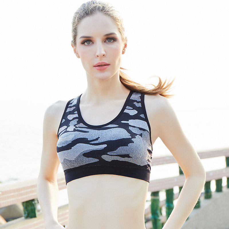 3695054d8c8da Sale Camouflage Sports Bra Top Women Yoga Bra Push Up Shockproof Brassiere  Sport Yoga Top Padded Gym Fitness Bra Sportswear-in Sports Bras from Sports  ...