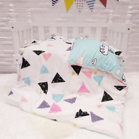 Promotion! 3PCS Cartoon cotton curtain baby cot sets baby bed ,Duvet Cover/Sheet/Pillow Cover,