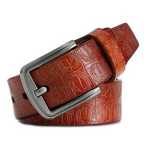 Image 5 - Yeni ürün marka lüks tasarım pin toka hakiki deri inek derisi kemer kot kemerler erkekler için iş kovboy kemerler sıcak satış