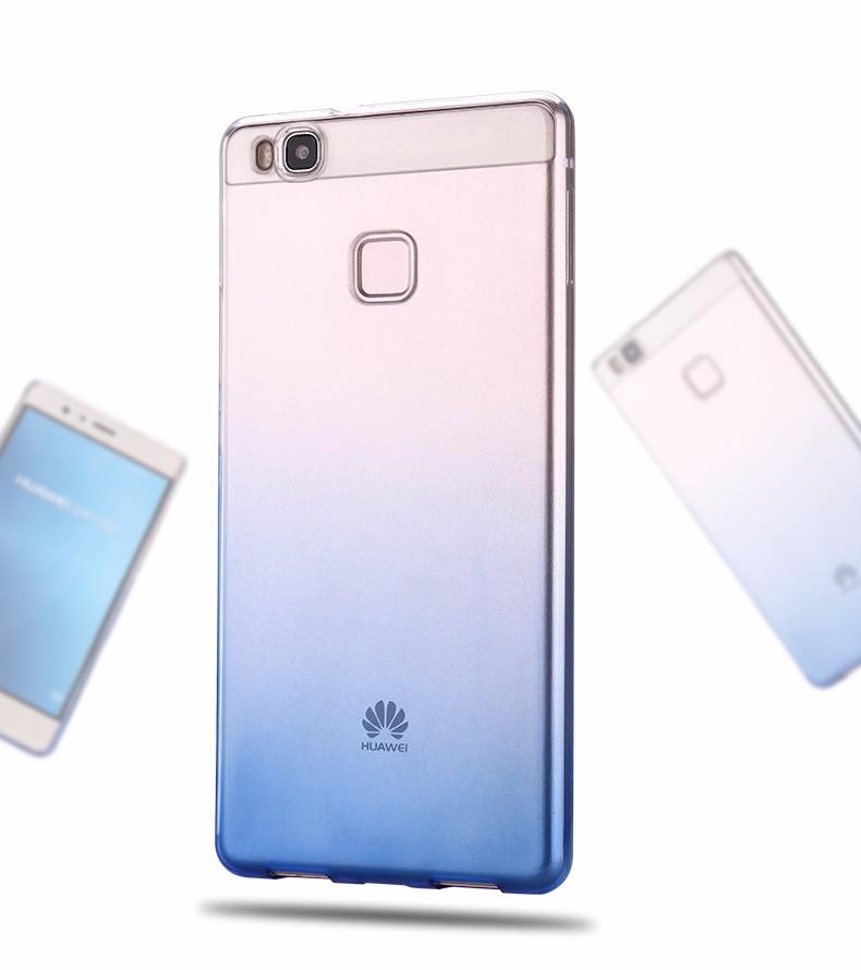 Ultra-cienki przezroczysty miękka tpu case dla huawei p8 p9 plus p8 lite krzemu gradientu telefon ochronna pokrywa dla huawei p9 Shell 2