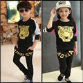 2017 Fashion Kids Casual Clothes Sets Lovely Tiger Printing Girls Boys Long Sleeve Hoodies+Pants Cotton Children Clothing