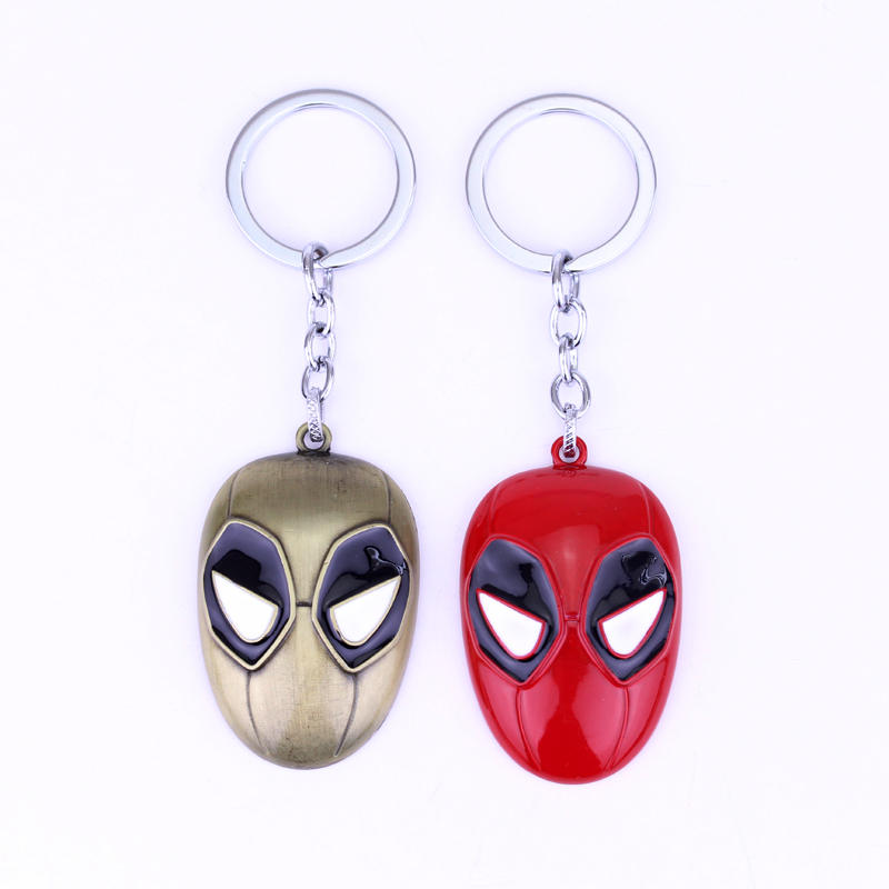 ᗛNueva alta calidad Marvel deadpool máscara aleación Llaveros el ...