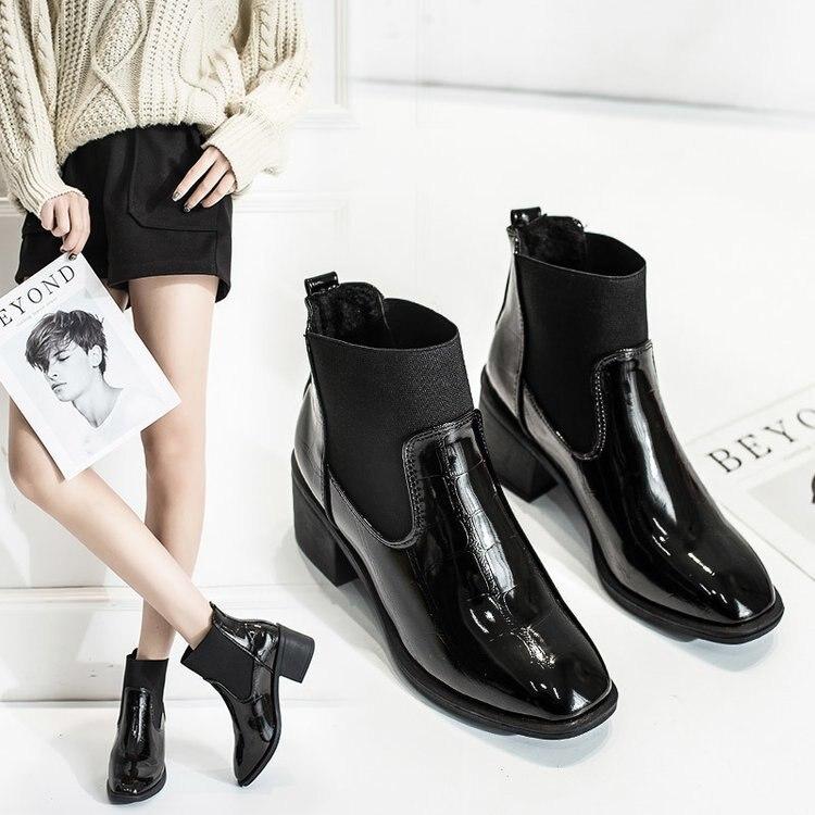 fa1f8858 Impermeable Calcetines Zapatos Motorbotas Señora 1 Botas Chelsea Botines  2018 Invierno Mujer Bota De Mujeres Snowboots Martens Tobillo Lujo ...