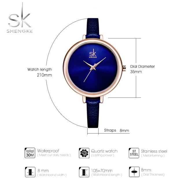 Elegant Slim Quartz Watch