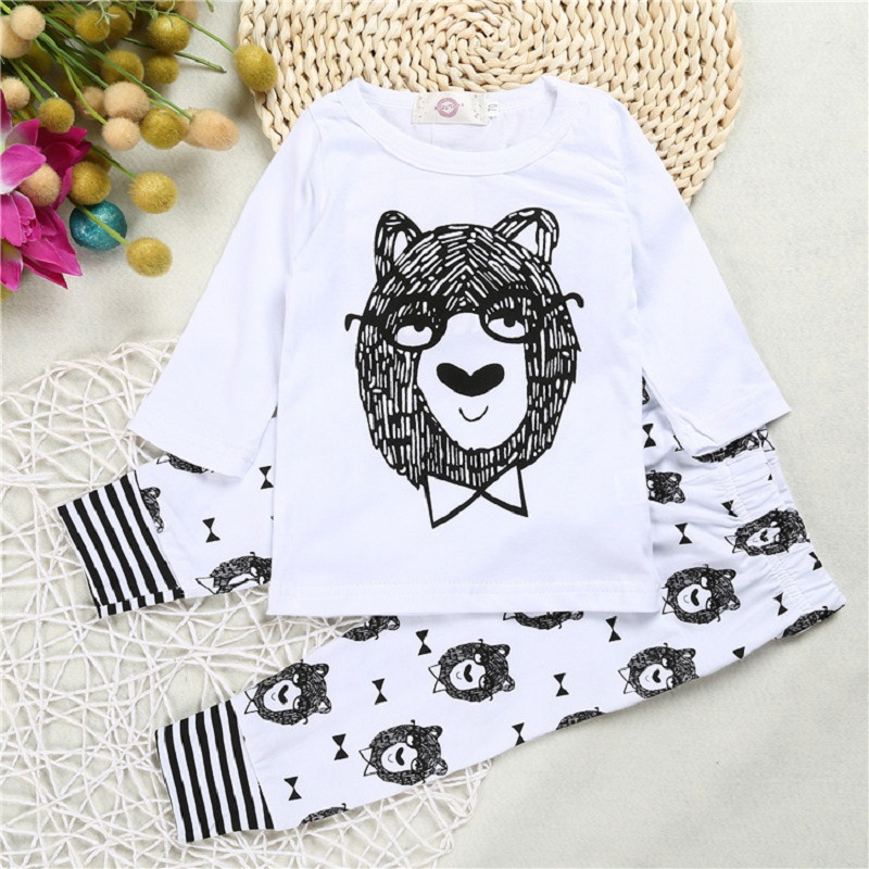Clearance Newborn Baby Boy Clothing Set Spring Clothes Boys Outfits Tiger Suit Long Sleeve T Shirt And Pants Child Ins Costume