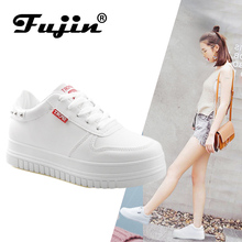 Fujin women fashion Spring shoes Brand sneakers Round Toe Ladies Flats Female Black Red Shoes Dapato