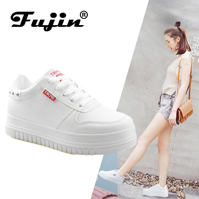 b23d713e477 Fujin women fashion Spring shoes Brand sneakers Round Toe Ladies Flats  Female Black Red Shoes Dapato Feminino High Quality-in Women's Flats from  Shoes ...