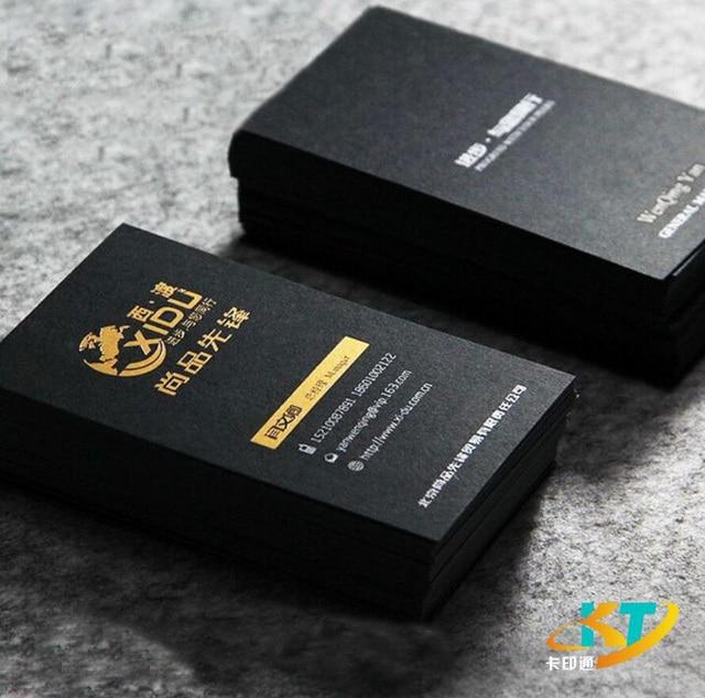 Aliexpress  Buy Solid Matt black business cards name card