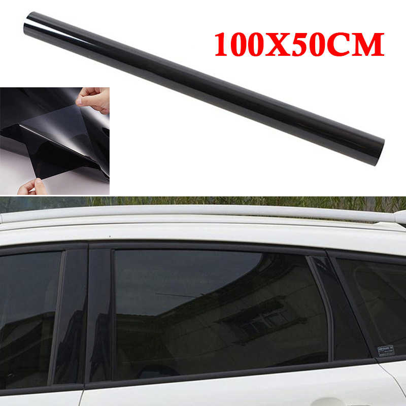 บังแดดฟิล์มสีดำ Universal Solar Auto 50*100 ซม.Car Home Office Glass หน้าต่าง Anti UV