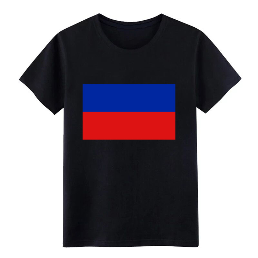 Ambitious Men's Haiti Flag T Shirt Customize 100% Cotton Round Neck Gents Anti-wrinkle Comfortable Summer Style Slim Shirt Online Discount