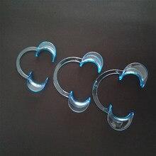15 pcs Dental Cheek Expander Mouth Opener Lip Retractor C-shape (3 Sizes) Clear Blue