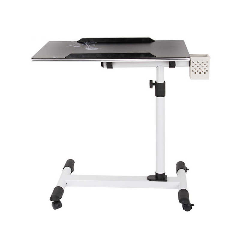 Practical Laptop Desk Students Learning Table for Sofa Bed Foldable PC Table Has Storage Space for Juice or Pens 60x40x100cm