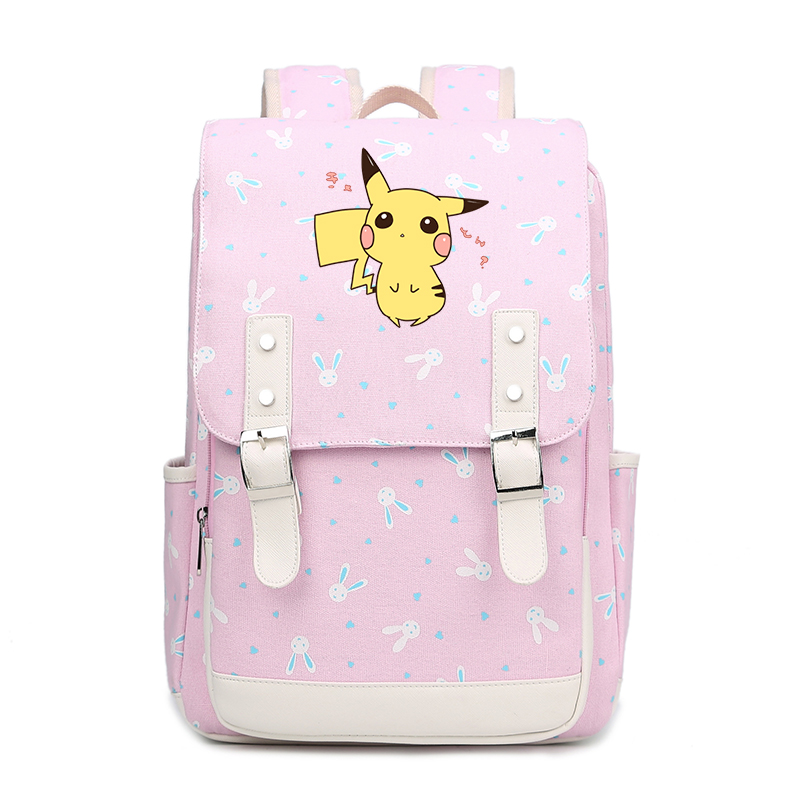 Pokemon anime school bags for Boys and Girls School Bags Pikachu Backpack For Teenagers Kids Backpacks Children Schoolbags FT цена