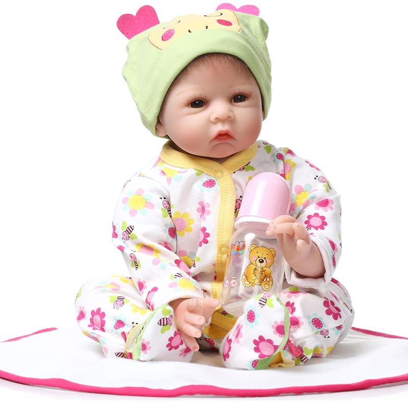 Fashion Doll Reborn Baby Doll Soft Silicone 22inch 55cm Magnetic Mouth Lovely Lifelike Cute Boy Girl Toy bonecasFashion Doll Reborn Baby Doll Soft Silicone 22inch 55cm Magnetic Mouth Lovely Lifelike Cute Boy Girl Toy bonecas