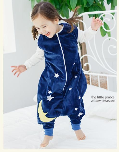 7 видов стилей; детский спальный мешок без рукавов; фланелевые пижамы для маленьких девочек с милым рисунком; спальные мешки для маленьких мальчиков - Цвет: blue sky