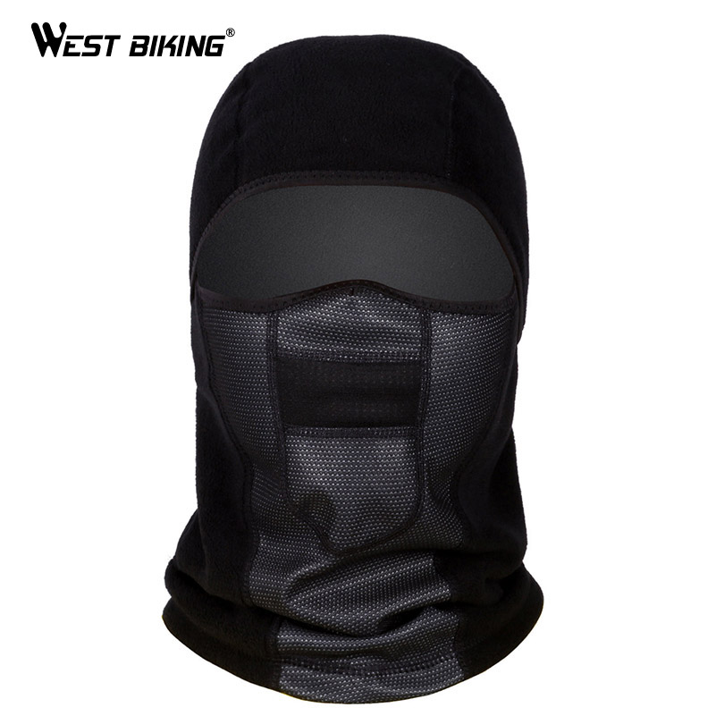 WEST BIKING Winter Warmer Fleece Cycling Face Mask Dust-proof Balaclava Windproof Ski Mask Snowboard Bicycle Bike Full Face Mask unisex winter warm fleece full face mask head cover neck warmer scarf hat ski cycling motorcycle balaclava caps outdoor sports