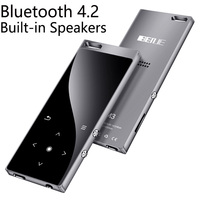 Bluetooth4.2 MP4 Player with Speaker 1.8Inch Screen Lossless Sound Video Player Support FM, Recorder, SD Card Up to 128GB