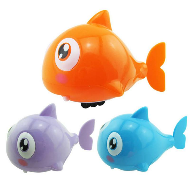 Baby Girls Boys Cute Clockwork Swimming Animal Tails Clockwork Toy Children Plastic Shark Classic Toy–Random Color