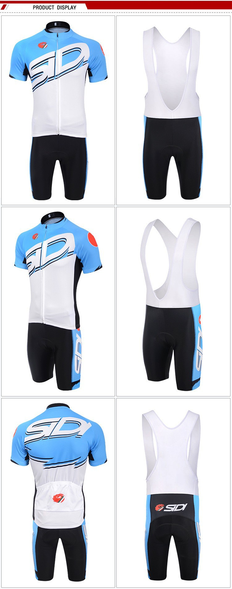 2015 New SIDI Sports wear Mountain Bike Ropa Ciclismo Bicycle Wear Cycling  Jersey clothing Shirt+Bib Shorts sets mtb Jerseys 7870f0104